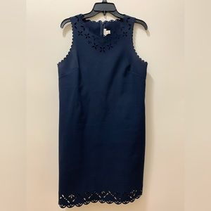 Jcrew Navy Petite 10 dress with cutout detail